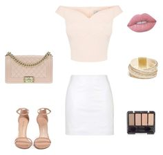 """""""Untitled #3"""" by anidatuholjakovic0307 ❤ liked on Polyvore featuring Topshop, Stuart Weitzman, Chanel, GUESS and Lime Crime"""