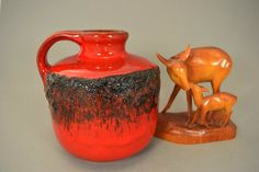 Vintage Vase/Krug / Kreutz Keramik / Modell 212 | West Germany | WGP | 70er von ShabbRockRepublic auf Etsy
