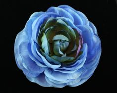 Blue Ranunculus Hair Clip available for purchase at www.Azune.com