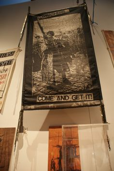 """Gay Bashers. Come and get it!"" Protest banner from the 'Disobedient Object' exhibition, shown at the V&A - London"