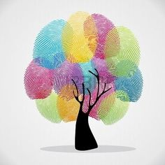 Illustration about Diversity color tree finger prints illustration background set. Vector file layered for easy manipulation and custom coloring. Illustration of asian, human, ethnic - 32018617 Art Drawings For Kids, Easy Drawings, Art For Kids, Colorful Drawings, Fingerprint Art, Handprint Art, Illustration, Finger Painting, Art Activities