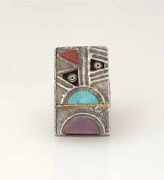 Tufa Cast Ring by Raymond Sequaptewa
