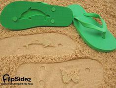 fbbb5c68e0a1a6 Custom Sand Imprint Flip Flops Personalize by FlipSideFlipFlops
