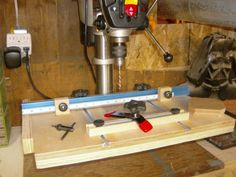 drill press bench and table