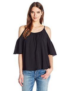 76a22c94a80a9b French Connection Women s Polly Plains Cold Shoulder Top