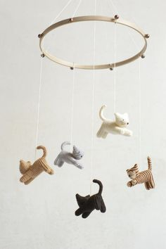 baby mobile KITTEN mobile CAT mobile crib mobile by Patricija