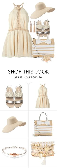 """Untitled #6475"" by lisa-holt ❤ liked on Polyvore featuring Jay Ahr, Eric Javits, Kate Spade, Charlotte Russe and Oscar de la Renta"