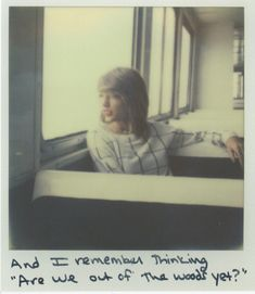 """""""Are we in the clear yet?"""" Taylor Swift Polaroid 45 - Out Of The Woods #1989"""