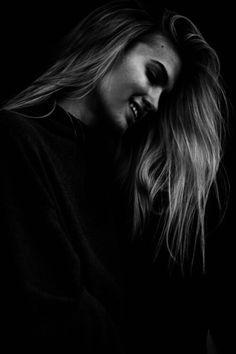 #smile #girl #black&white #hair