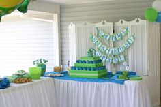 """Photo 1 of 14: Frogs / Birthday """"Drake's 1st Birthday Party"""" 