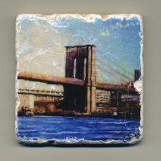 Brooklyn Bridge Original Coaster by re4mado on Etsy, $14.99