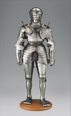 South German Maximilian Armor, ca 1520. Origin Nuremberg Unusual two peace breastplate