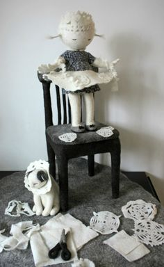 Esculturas en Fieltro de Irina Andreeva Rusa