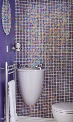 Fun, expressive and colorful - a wonderful way to spruce up your bathroom or your children's bathroom.