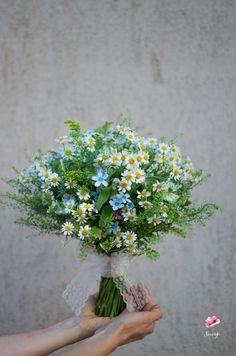 Wildflowers wedding bouquet/ Buchet de mireasa cu flori de camp, musetel si oxypetalum Herbs, Plants, Herb, Plant, Planets, Medicinal Plants