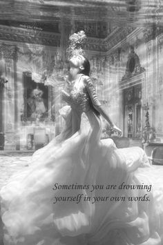 Are you drowning in your own words of negativity? ~ created by Jovita