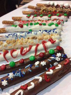 Holiday Chocolate covered pretzels. Hand made.