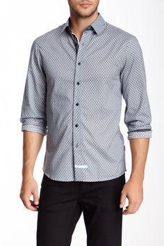 114968aa Printed Long Sleeve Sport Shirt Sports Shirts, Nordstrom Rack, Sports Shirt