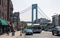 The walk towards Fort Hamilton from the subway is picturesque, with stunning views of the Verrazano-Narrows Bridge, the longest suspension bridge in America.
