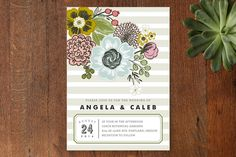wedding invitations, seed packet by alethea and ruth for minted