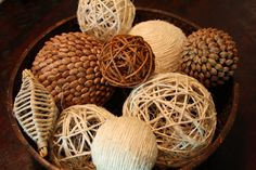 How To: Decorative Balls ... less expensive and you can make what you want!