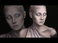 הדרכת ציור פנים של פסל | Statue Makeup Tutorial - YouTube