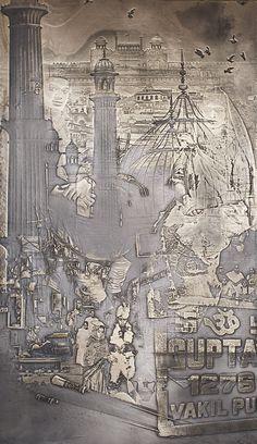 Based Upon — Anniversary Sculpture Metal, Wall Sculptures, Leather Wall, Gold Walls, 25th Anniversary, Textured Walls, Installation Art, Art Decor, Vintage World Maps