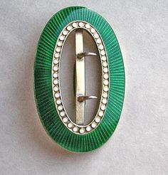 David-Andersen Sterling Enamel Norway Buckle