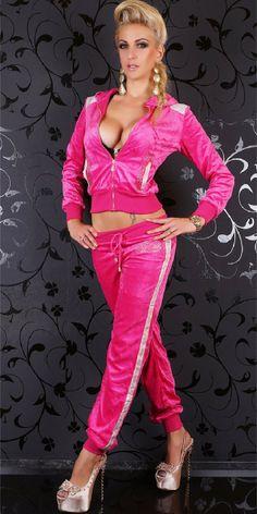 Rebelvision - SEXY TRACKSUIT REDIAL PINK VELVET, $99.50 (http://www.rebelvisiononline.com/sexy-tracksuit-redial-pink-velvet/)