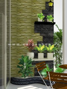 tieu canh ban cong can ho 3 Garden Design, Terrace Decor, Balcony Furniture, Small Balcony Decor, Trendy Interior Design, Interior Garden, Plant Decor, House Plants Decor, Wall Design