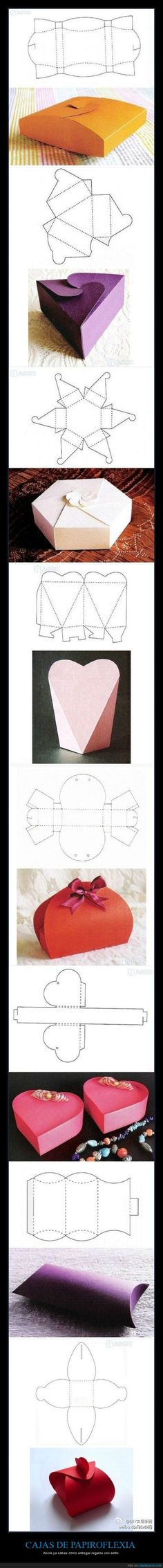 New origami box template patterns ideas Fun Crafts, Diy And Crafts, Arts And Crafts, Homemade Gifts, Diy Gifts, Ideas Paso A Paso, Papier Diy, Diy Gift Box, Gift Boxes
