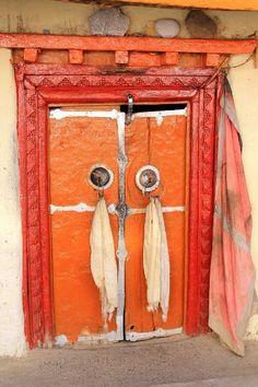 Orange Indian doors - Interesting flat rocks above the & Door | Ladakh Jammu u0026 Kashmir India. | Doors gates portals to ...