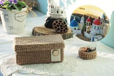 Jewelry Box/ Small trinket box/ Treasure box/ Jewelry Organizer/ Small storage box/ Box with lid/ Re