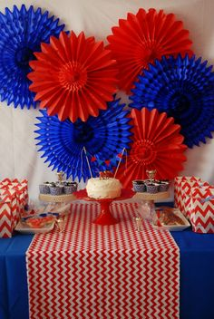 The Party Wagon - Blog - {RED AND BLUE} HORSE PARTY