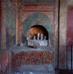 Lararium of the House of the Menander at Pompeii