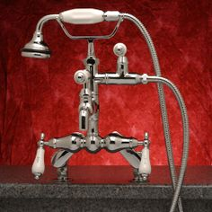 Rim Mount Tub Faucet with Hand-Held Shower