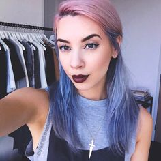 going to have my sister help me do a shorter purple/aqua version of this over thxgiving break