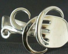 Antike Gabel Armband umweltfreundlich Upcycled Löffel Armband Silber Schmuck Gabel Silber Gabel Armreif
