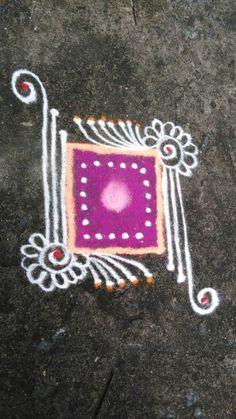 Easy Rangoli Designs Videos, Simple Rangoli Border Designs, Rangoli Borders, Rangoli Designs Flower, Free Hand Rangoli Design, Colorful Rangoli Designs, Rangoli Ideas, Rangoli Designs Diwali, Kolam Rangoli