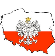 Polish Flag Decal / Polska Map Sticker - Polish Map Decal / Polska Flag Sticker Die-Cut full color decal of the polish flag and crest in the shape of the map of Poland. Polish Eagle Tattoo, Polish Tattoos, Polish Symbols, Poppy Craft For Kids, Dyngus Day, Poland Culture, Learn Polish, Poland Flag, Countries And Flags