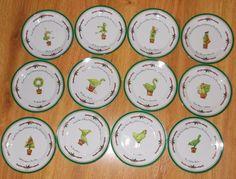 I. Godinger & Co. The Twelve Days of Christmas 12 Dessert Plates 7.5 Holiday Set #IGodingerCo