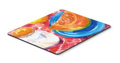A Slice of Cantelope Mouse pad, hot pad, or trivet