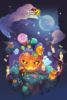 Halloween Illustration, Cute Illustration, Halloween Patterns, Halloween Art, Ghost Games, Comic Tutorial, Modelos 3d, Game Background, Digital Painting Tutorials