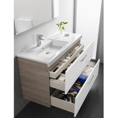 24 Best ideas for bathroom vanity shelves storage spaces Bathroom Sink Cabinets, Small Bathroom Vanities, Small Bathroom Storage, Modern Bathroom, Bathroom Ideas, Small Bathrooms, Bedroom Storage, Bathroom Pink, Bathroom Canvas