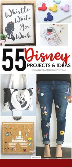 55 Disney Projects & Ideas is part of Disney diy crafts - Make your Disney trip or every day life a little more magical with one of these amazing 55 Disney Projects & Ideas! Something for everyone! Disney Diy Crafts, Disney Home Decor, Fun Crafts, Diy Disney Gifts, Diy Disney Decorations, Disney Art Diy, Amazing Crafts, Diy Gifts, Disney Tips