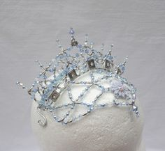 Snow Crown - A unique hand made headpiece for the role of the Snow Queen, snow flake, snow princess, now Maiden and many other roles. Exclusively crafted by a famous artist for Dancewear by Patricia. Silver frame. Estimated deliver time: 2 weeks - Ships from the US Price: $ 275 + shipping