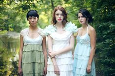 Yes, these chiffon ruffle dresses are available to purchase on Etsy. So dreamy and romantic.