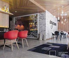#Ciengramos un #Restaurante con mucho Sabor y Estilo. #Pisos y tapetes en relieve | #MicroCemento Plata y Gris Cemento.  Otro Proyecto realizado por #Mibuti. #Revestimientos #pisos #Bogotá