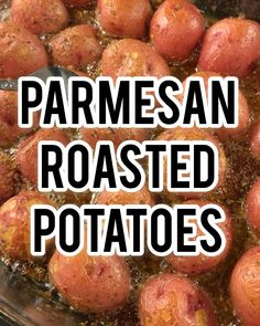Parmesan Roasted Potatoes, Butter Potatoes, Potatoes In Oven, Roasted Potato Recipes, Potato Sides, Potato Side Dishes, Vegetable Side Dishes, Dinner Recipes Easy Quick, Quick Easy Meals