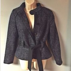 """Tweed Blazer Like new, Blazer fully lined, perfect for office! Dry clean onlyShoulder to bottom: 22.5"""", waist: 16"""" Has snap tab,and belt Willi Smith Jackets & Coats Blazers"""